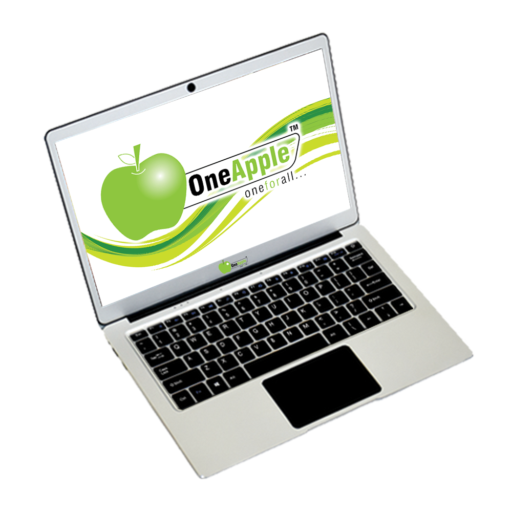 One Apple Laptop